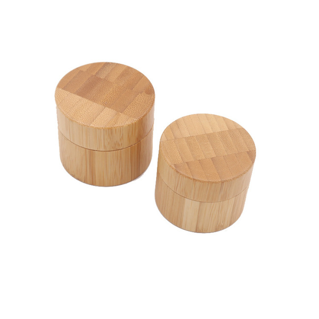 customized design bamboo cover lid 30ml/50ml/100ml round frosted foundation jar  bottles  glass cosmetic packaging