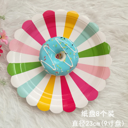Party Dinnerware Paper Cost-effective Divided Kids Baby Plates 25pack Degradable Sugarcane Plates Plate Dish Customized Pattern