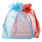 Organza bag logo printed custom white bag wholesale drawstring pouches gift packaging cosmetic jewelry packaging bags