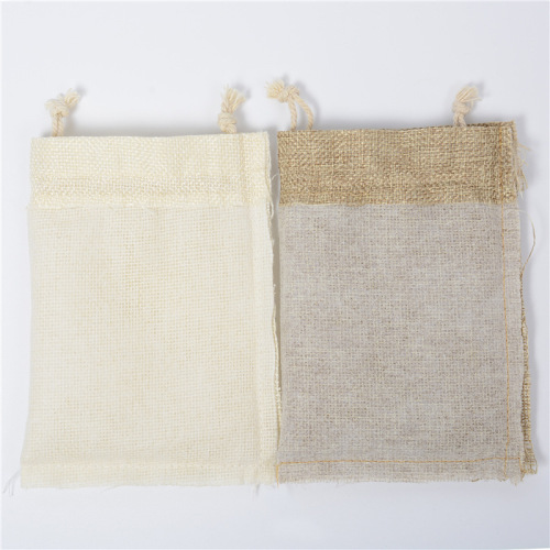 Custom Pure Natural Healthy Stretch Organic Small Hemp fabric Linen Pouch Drawstring Bag for Packing