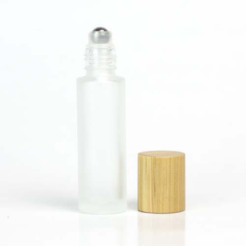 factory price 5ml  elegant glass container  bamboo 0.1 ounce roll on glass bottles  for essential oil with box packaging design