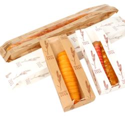 Custom Reusable Food Packaging Kraft Printing Baking Bread Paper Bag with Window