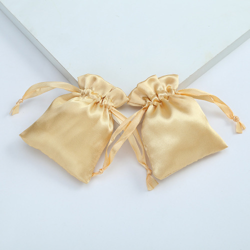 Custom logo Drawstring Colorful Luxury Gift Packaging Eco Friendly Reusable Sustainable Silk Satin Bag for Jewelry