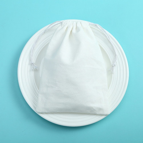 Customized Logo Organic Personalized Logo Fabric Canvas Cotton Pouch Drawstring Bag