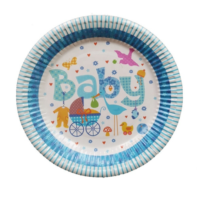 7'' 9'' Disposable Eco-Friendly Stock Solid Plain Colour Party Paper Plate For Child