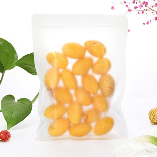 Customized Printing Matte Frosted Transparent LDPE self-sealing bag mylar ziplock bag