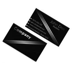 PVC Custom Printing Embossed Gold Stamping Plastic Business Card