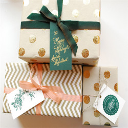 Gift wrapping paper roll manufacture with logo printed