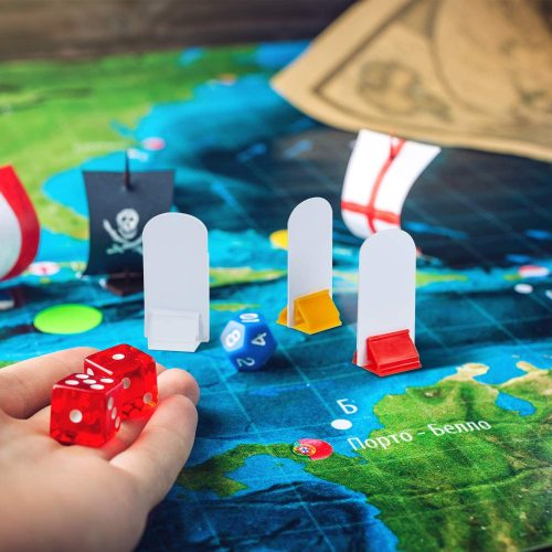 Custom board game set includ plastic or wooden pawns for board game