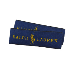 Custom silk embroidery patch Fashion Woven Labels for Clothing