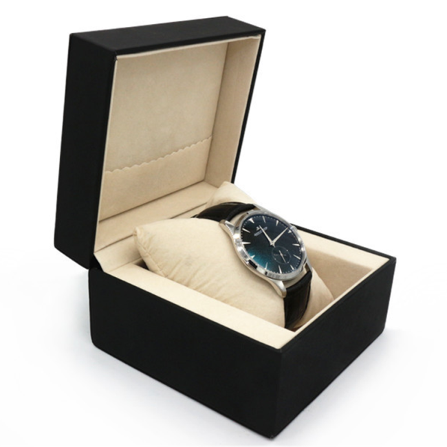 Wholesale black PU leather watch box luxury