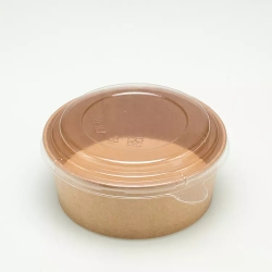 Chinese Manufacturer Factory Wholesale Biodegradable Paper Bowls Soup Takeaway Kraft Paper Bowls with Lids