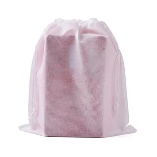 Various stock colors available custom logo folding non woven gift packaging drawstring bag