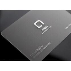 Free Design Luxury Best Pvc Transparent Membership Card Transparent Plastic Business Name Card