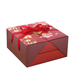 Wholesale Custom Luxury Double Creative Opening Paper Packaging Gift Box Two Door Gift Cake Box