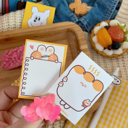 Animals Printing Cartoon Notepad for Students Home Office Gifts Bookmarks Custom Self Adhesive Post Note Sticky Notes