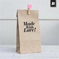 Eco friendly slogans coated kraft paper food bag