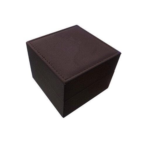 OEM PU leather handmade black watch packaging boxes, PU watch box