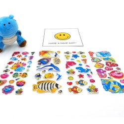 Factory Promotional Design Custom Stickers Cute Butterfly 3D Foam Bubble Fashion Brand Stickers Puffy Sticker For Kids