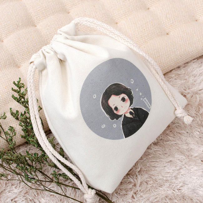 Customized Logo Wholesale Printed Gift Proof Cloth Shoes Travel Organic Mesh Cotton Linen Drawstring Bags for Shoes