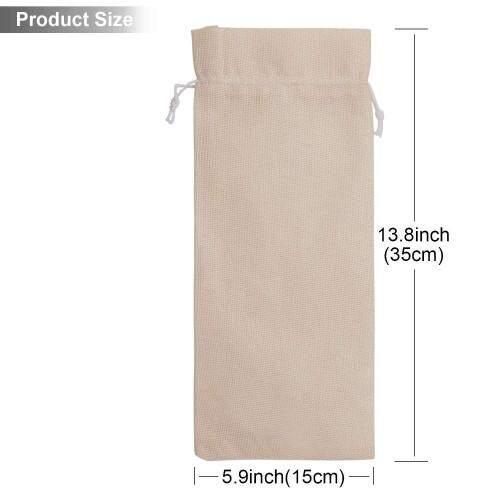 Wholesale Portable Reusable Eco Friendly Small Eco Friendly Wine Burlap Gift Hemp Drawstring Bag