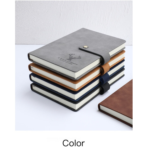 Customizable Academic Diary A5 A6 B5 Dotted Grid Pu Leather Hardcover Agenda Planner Journal Notebook