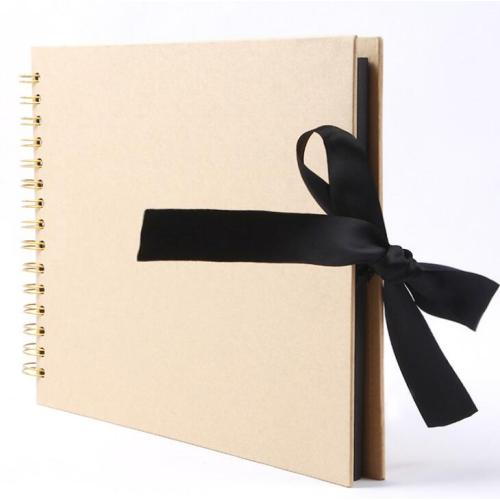 Magnetic Scrapbook 40 Double Sided Pages Linen Hardcover DIY Photo Album
