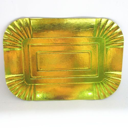 Reusable Waterproof Grease Proofing Gold Circular Square Shaped Customize Design Your Own Paper Plate Dish Rectangle Disposable