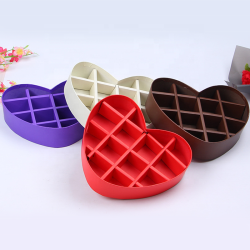 Wholesale Luxury Chocolate Packaging Box Rigid Chocolate Heart Shaped Gift Box With Bow