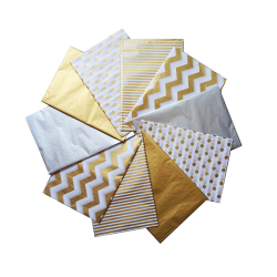 Good Quality Custom Gold Brand Logo Printing Gift Wrapping Tissue Paper for Packing for Clothes Shoes