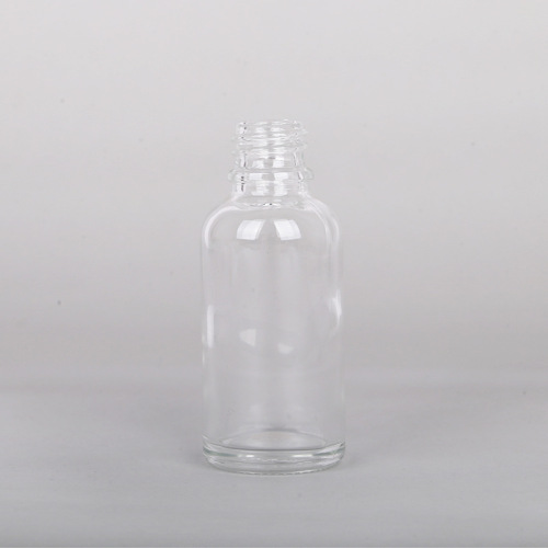 wholesale 5ml 10ml 15ml 30ml clear recyclable ample bottle suppliers with metal collar liquid serum dropper cosmetic packaging