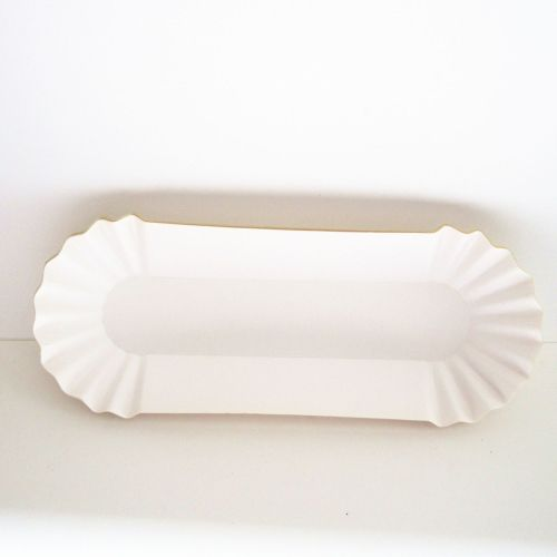 Factory Wholesale Disposable Oven and Microwave Paper Plate Gold BBQ Hot Dog Dessert Trifle Paper Dishes