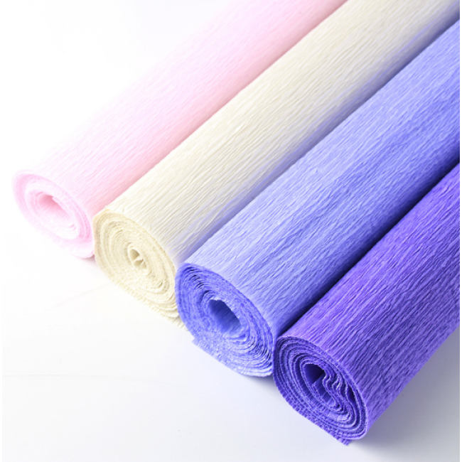 Wholesale Premium Colored Crepe Paper Custom Logo Printed Rolling Paper Offset Printing Chemical-mechanical Pulp Wood Pulp
