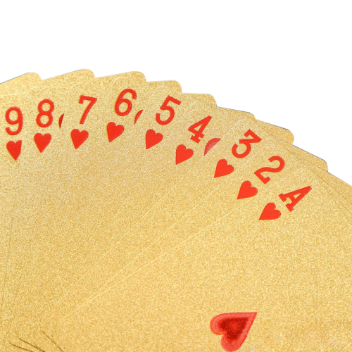 Creative Waterproof Gold Foil Playing Card Custom Gold Advertising Logo Can Be Customized Spot Wholesale