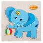 2021 wholesale wooden kids puzzle elephant shaped jigsaw puzzle educational toy