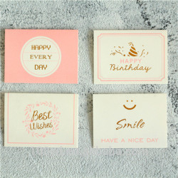Wholesale CYMK Printing Customized Logo High Quality Cardboard Thank You Cards For Friends