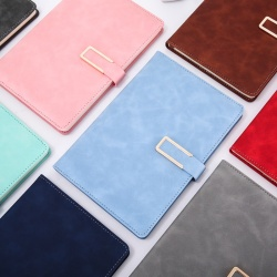 PU leather luxury planners and notebooks custom with logo 2021 2022