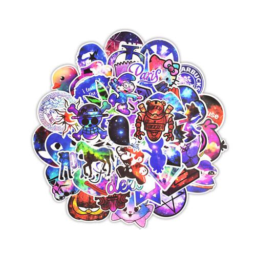 Decorative adhesive sticker for furniture/luggage cartoon custom sticker sheet