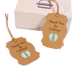 New-style Kraft Paper Hang Tags Wedding Birthday Party Decoration Small Gift Price Tag Jewelry Price Tag
