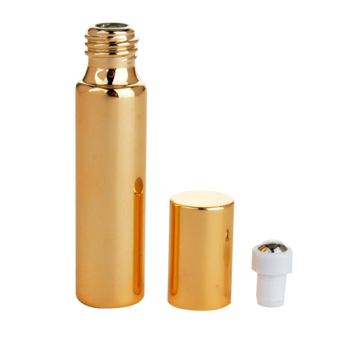 customized design 5ml 10ml uv lable roller essential oil roller with metal ball glass bottles foundation box packaging