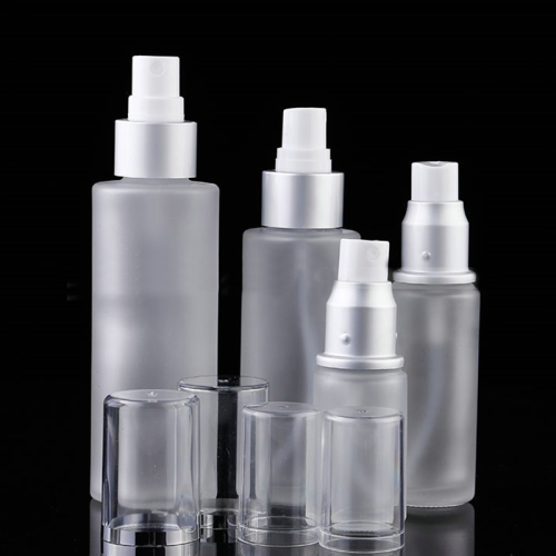 cheap environmental 1oz 1.5oz 1.7oz mist screen printing gold collar toner lotion bottles glass for face care foundation package