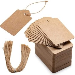 New-style Kraft Paper Hang Tags Wedding Birthday Party Decoration Small Gift Price Tag Jewelry Price Tag High quality