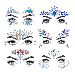 Holiday Rhinestone Decal Glitter Face Sticker Festival Sticker 3D Face Body Decoration
