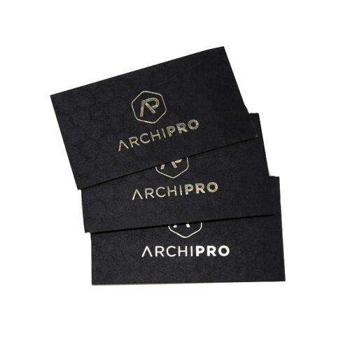 Luxury Printing Gold Silver Foil Letterpress Black Cardboard Custom Name Business Cards