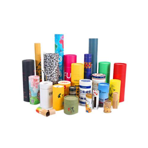 cardboard cylinder packaging box custom print packaging box