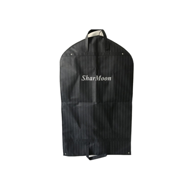 Hot selling black non woven suit bag custom logo accepted suit bag