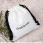 Custom Printed Reusable Fabric Snack cutlery bag organic small Gift Canvas cotton muslin String Handbag Shoe Dust Drawstring Bag