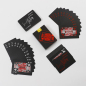 Custom creative personality black PVC waterproof playing cards do not fade playing cards manufacturers direct sales