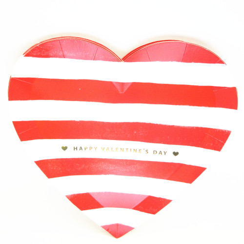 Happy Valentine Unique Birthday Paper Plate Reusable Eco-friendly Heart Shaped Custom Printed Dinner Plates