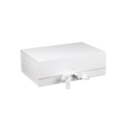Large silver gift packaging customized matte printing clothing packaging boxes supplier